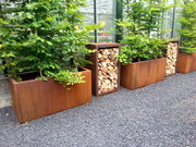 Corten Steel Trough Planters